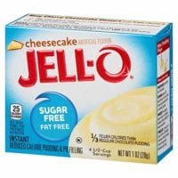 Jell-o sugar free cheesecake pudding mix