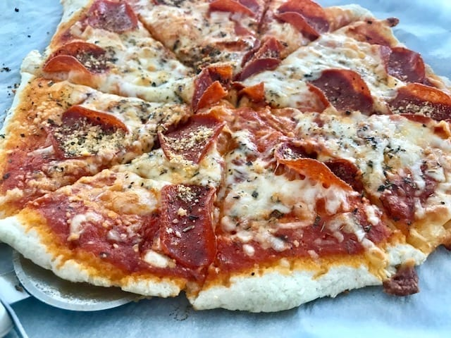 Pepperoni Pizza made with Two Ingredient Dough