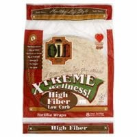 """Ole Mexican High Fiber Low Carb Flour Tortillas, """"8 Count (Pack of 6)"""