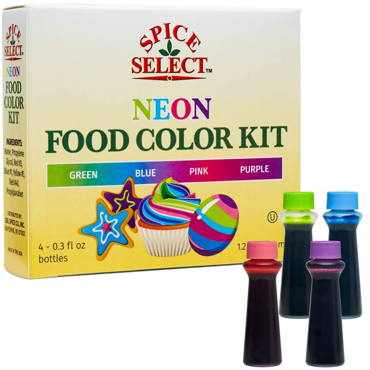 Spice Select Neon Food Colors