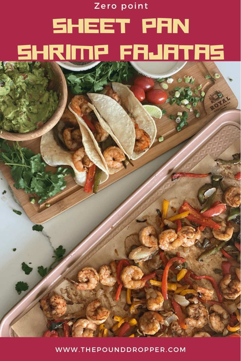 TheseZero Point Sheet Pan Shrimp Fajitas make for a quick and easy dinner-perfect for those busy weekday nights! via @pounddropper
