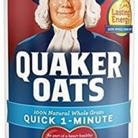 Quaker Oats Quick 1-Minute Oatmeal, Breakfast Cereal, 18oz Canisters (2-Packs)