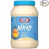 Kraft Light Mayonnaise (30 oz jars, Pack of 2)