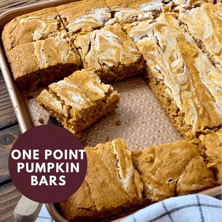 One Point Sheet Pan Pumpkin Bars