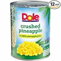 Dole Crushed Pineapple in Juice, 20 Ounce Cans (Pack of 12)