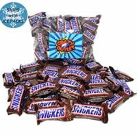 CrazyOutlet Pack - SNICKERS Chocolate Candy Bar, Fun Size Bulk Candy, 2 Lbs
