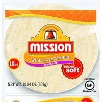 Mission Super Size White Corn Tortillas | Gluten Free, Trans Fat Free | Large Soft Taco Size | 10 Count