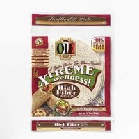 Ole Xtreme Wellness High Fiber Low Carb Wraps - 4 Pack Case - 8ct