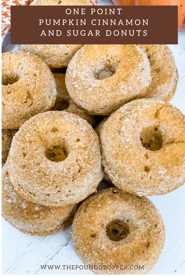 One Point Pumpkin Cinnamon and Sugar Donuts via @pounddropper