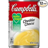 Campbell'sCondensedHealthy RequestCheddar Cheese Soup, 10.75 oz. Can (Pack of 12)