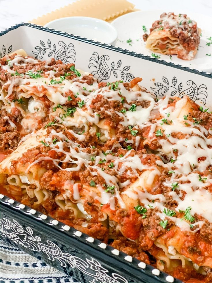 Easy Skinny Lasagna Roll Ups