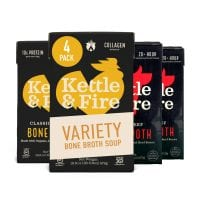 Bone Broth Variety Pack, Beef and Chicken by Kettle and Fire