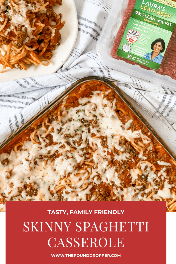 WW Friendly: Skinny Spaghetti Casserole. Who doesn't love spaghetti and lasagna? This Skinny Spaghetti Casserole is a mix between a classic lasagna and a baked spaghetti- a prefect combination! This recipe is a family favorite! via @pounddropper