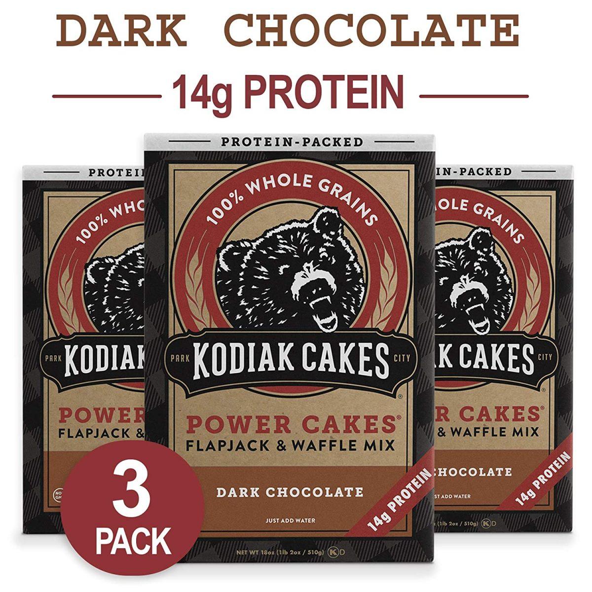 Kodiak Cakes Protein Pancake Power Cakes, Flapjack and Waffle Baking Mix, Dark Chocolate