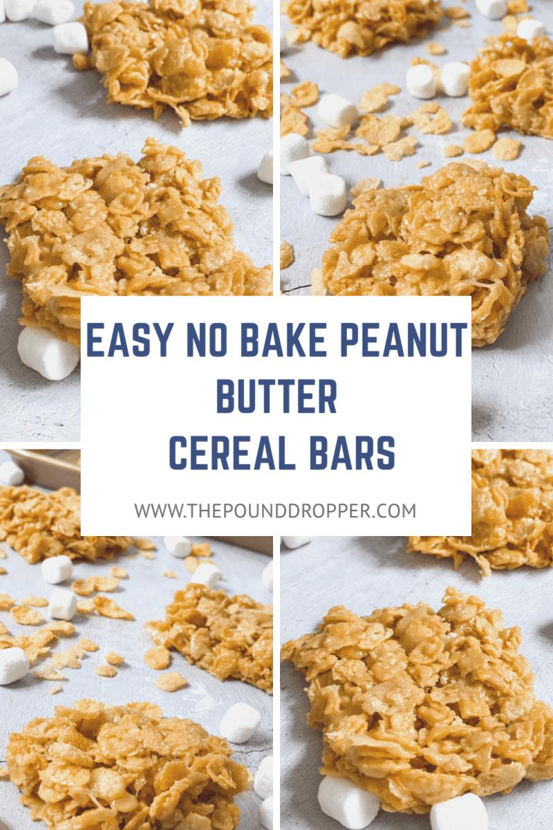 Easy No Bake Peanut Butter Cereal Bars via @pounddropper