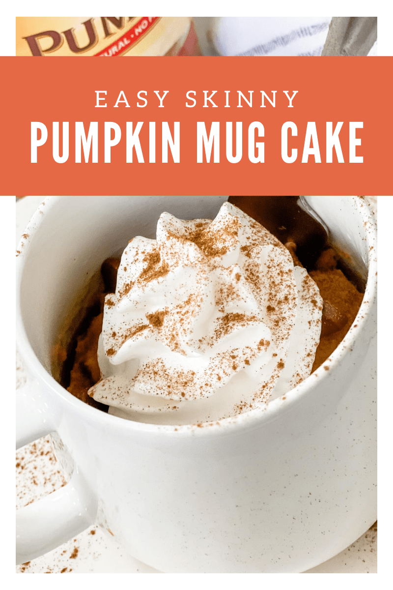 This easy Skinny Pumpkin Mug Cake can be made within minutes-served as a simpleserving andtastesamazing withuse a scoop of lightvanilla ice cream & sugar free chocolate chips! via @pounddropper