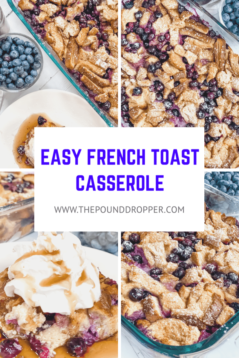 This Easy French Toast Casseroleis a quick and easy breakfast, brunch, or dinner option that can be cooked right away or assembled ahead of time and cooked the next morning! via @pounddropper