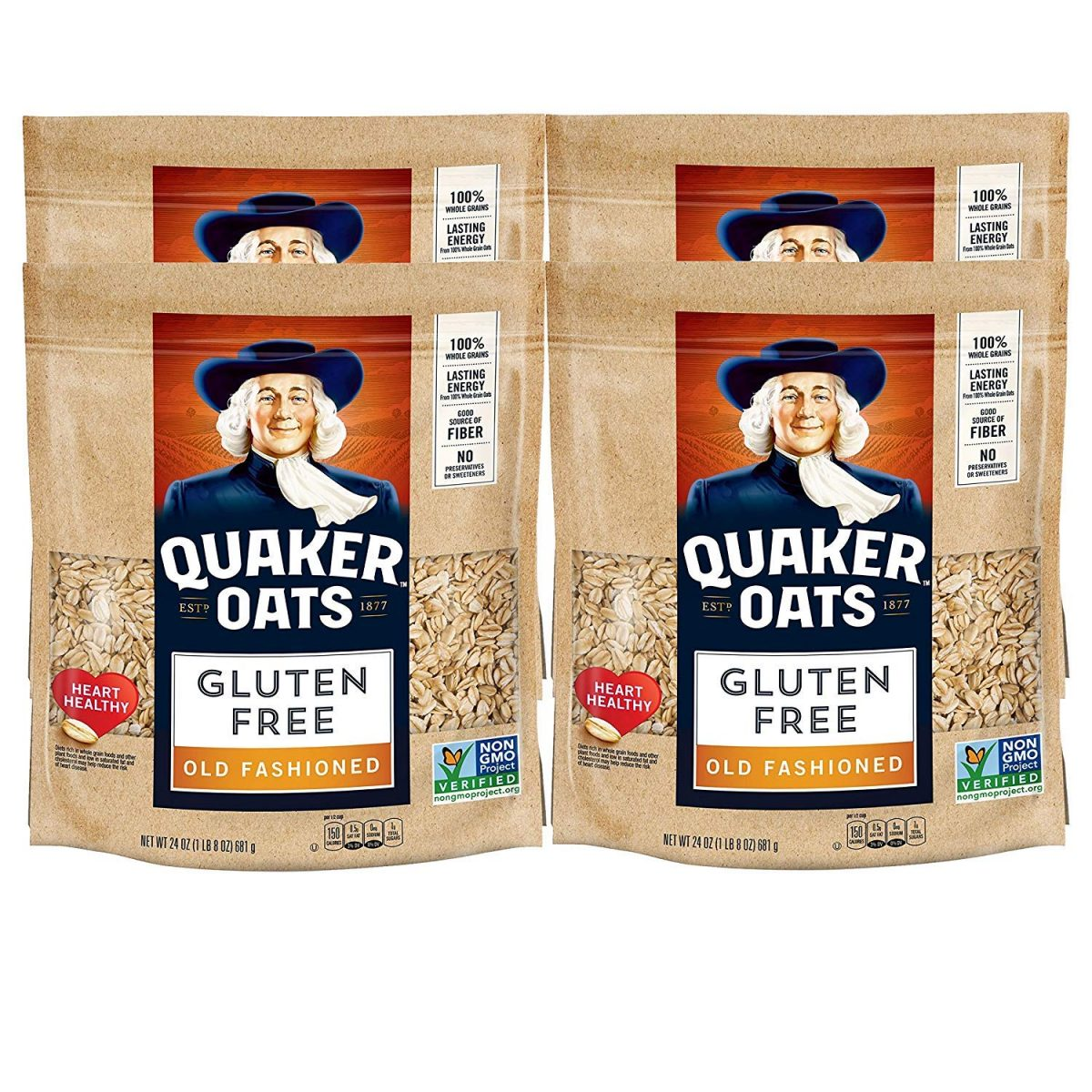 Quaker Gluten Free Old Fashioned Rolled Oats.