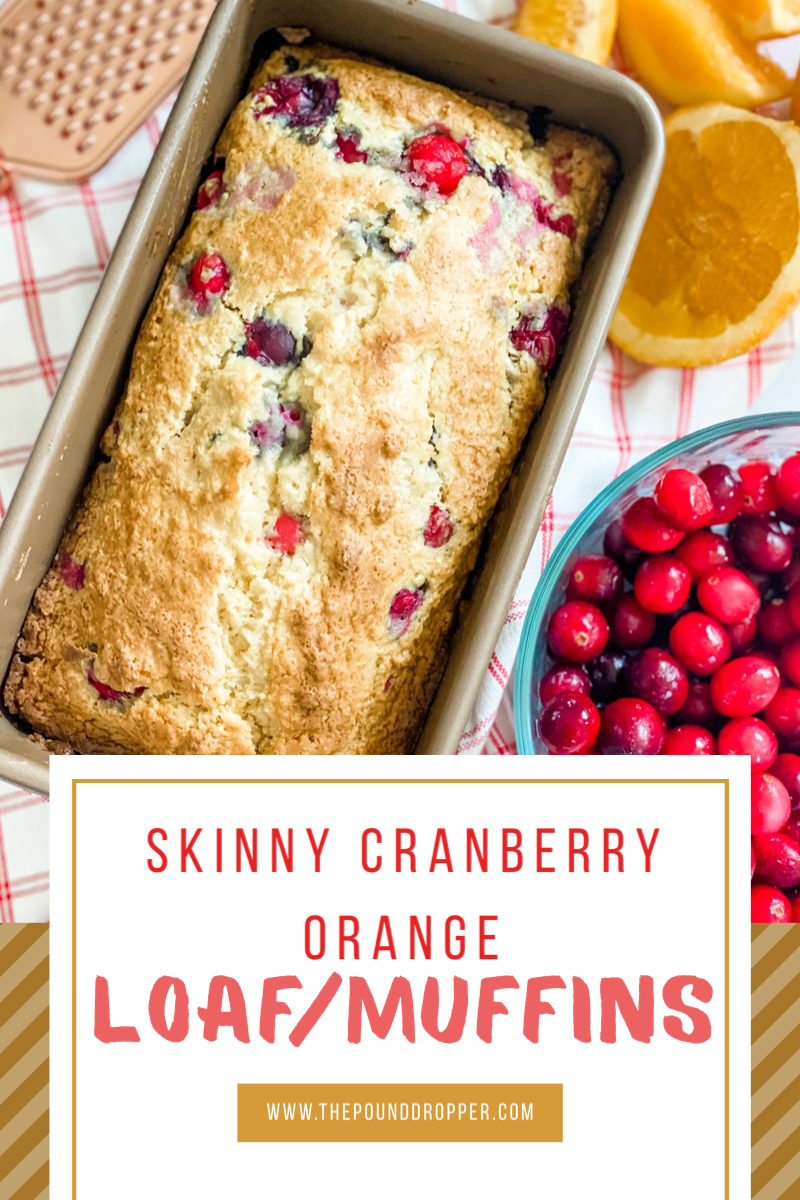 This Skinny Cranberry Orange Loaf or Muffinsare packed with cranberries and flavoredwith fresh orange juice!An easy muffin or loaf recipe that's sure to be a favorite! via @pounddropper