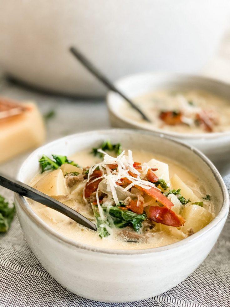 Skinny Zuppa Toscana-Olive Garden Copycat
