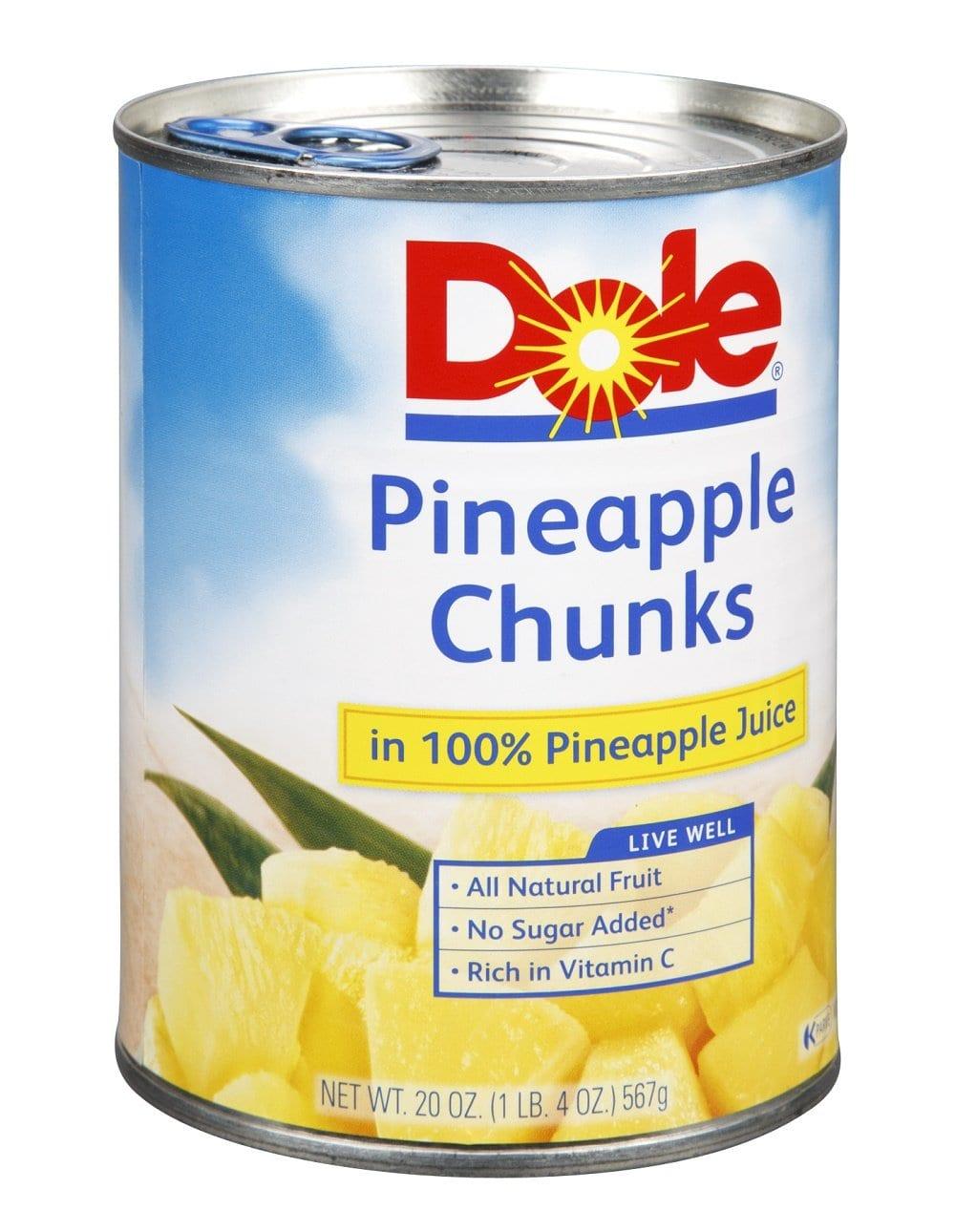 Dole, Pineapple Chunks in 100% Pineapple Juice