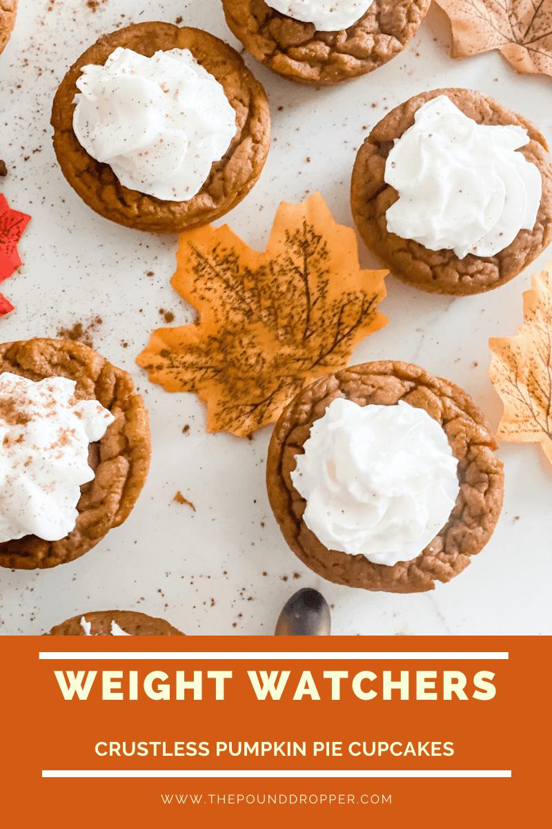 Weight Watchers Crustless Pumpkin Pie Cupcakes via @pounddropper