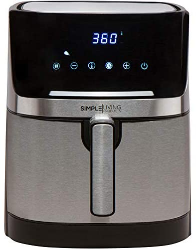 Simple Living Products XL Digital Air Fryer with 5.8 Quart