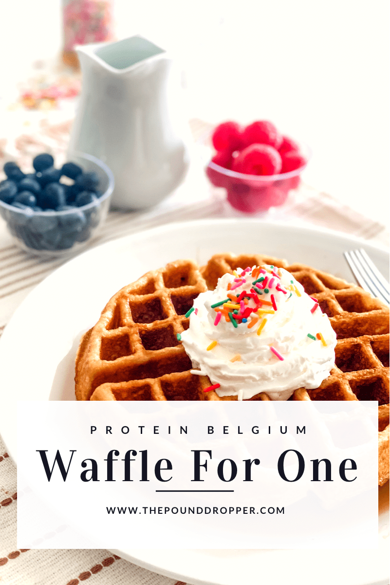 Protein Belgium Waffle For One via @pounddropper