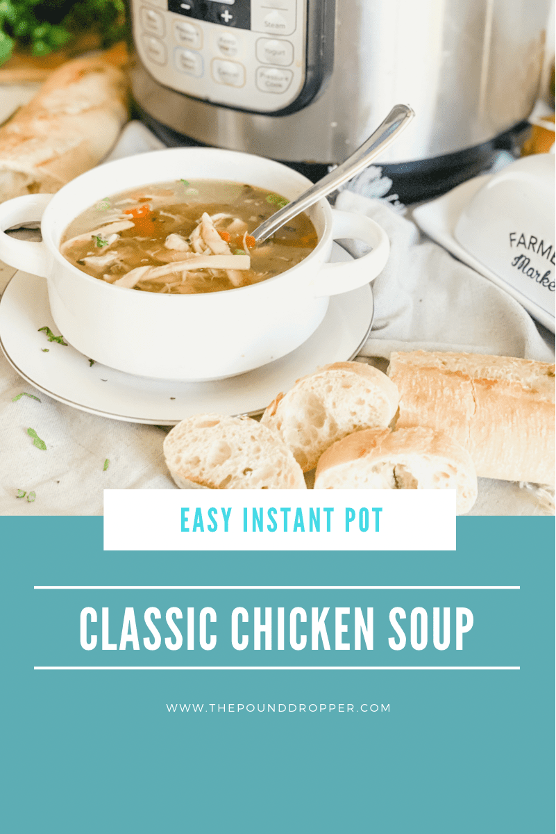 Classic Chicken Noodle Souphas never been easier or quicker than in your Instant Pot! ThisEasy Instant PotChicken Noodle Soup is always a great choice-packed withchicken, egg noodles, chicken broth, onions, carrots, peas, and celery! via @pounddropper
