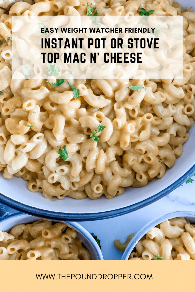 This Easy Mac N' Cheese is afamily favorite -not only is it low in points, it's also thefastest, easiest, most delicious Mac N' Cheese you'll ever make!! Perfectly creamy and cheesy! via @pounddropper