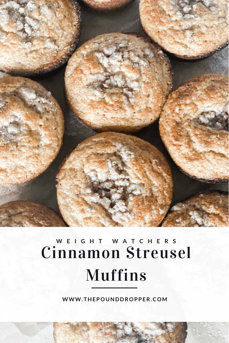 These Cinnamon Streusel Muffinsare light, perfectly sweet with a cinnamon sugar streusel topping-the perfect coffee cake muffin recipe for only 2 smartpoints! via @pounddropper