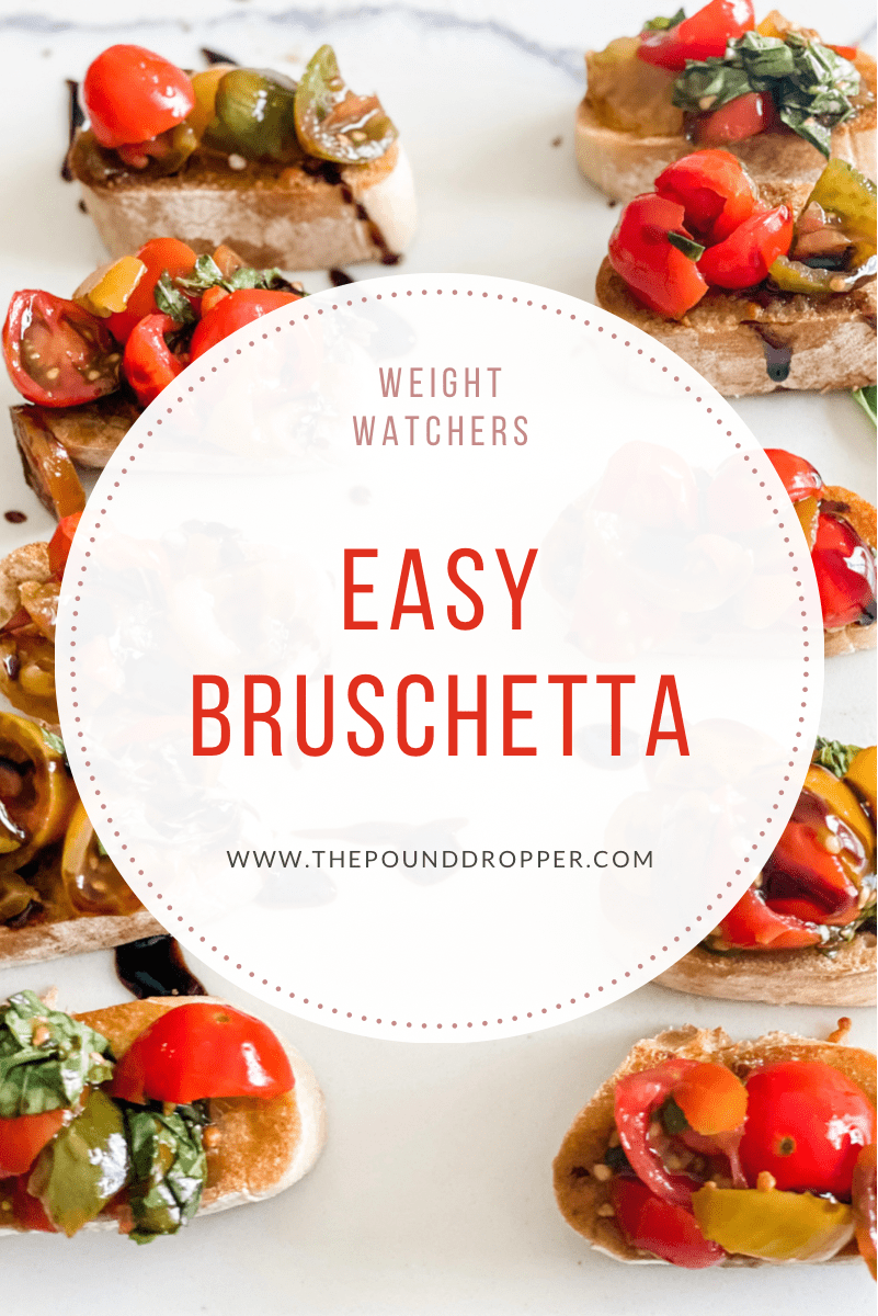 This Easy Bruschetta makes forquick and easy appetizer is packed with fresh simple ingredients and filled with sweet and savory flavors! Bring Italy right to your house with this simple appetizer or lunch! via @pounddropper