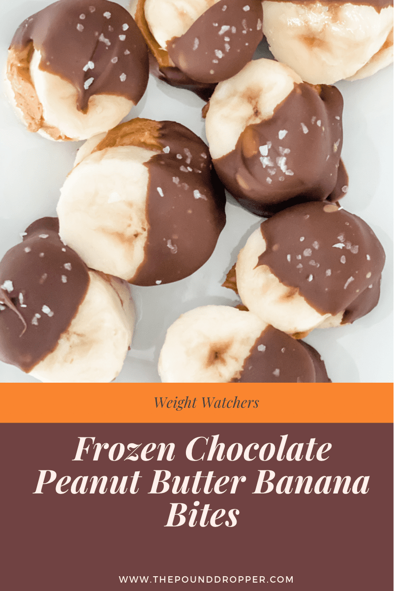 These frozen chocolate covered peanut butter banana bites are the perfect snack, treat, or dessert!These banana bites arequick and easy to make and requires only 4ingredients!! via @pounddropper