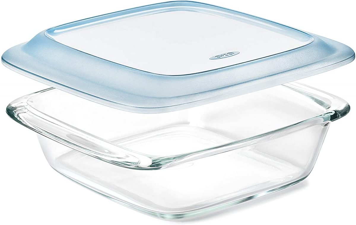 Good Grips Freezer-to-Oven Safe 2 Qt Glass Baking Dish with Lid