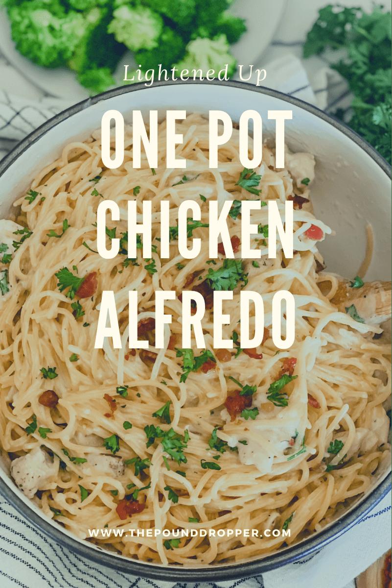 Lightened Up One Pot Chicken Alfredo via @pounddropper