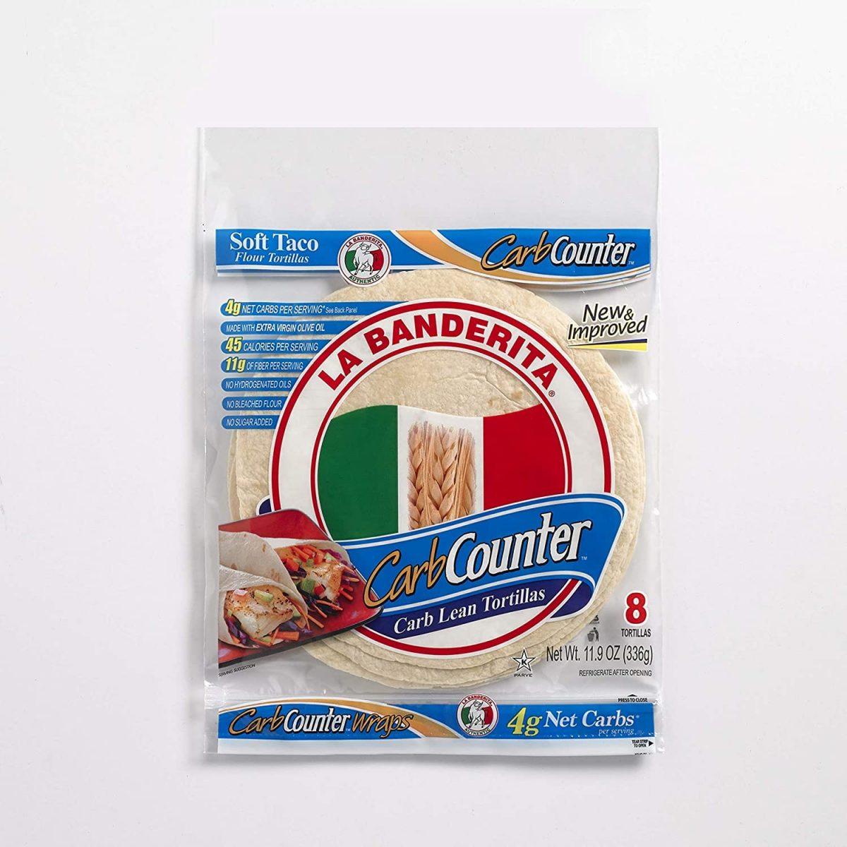 La Banderita Counter Low Carb Tortillas