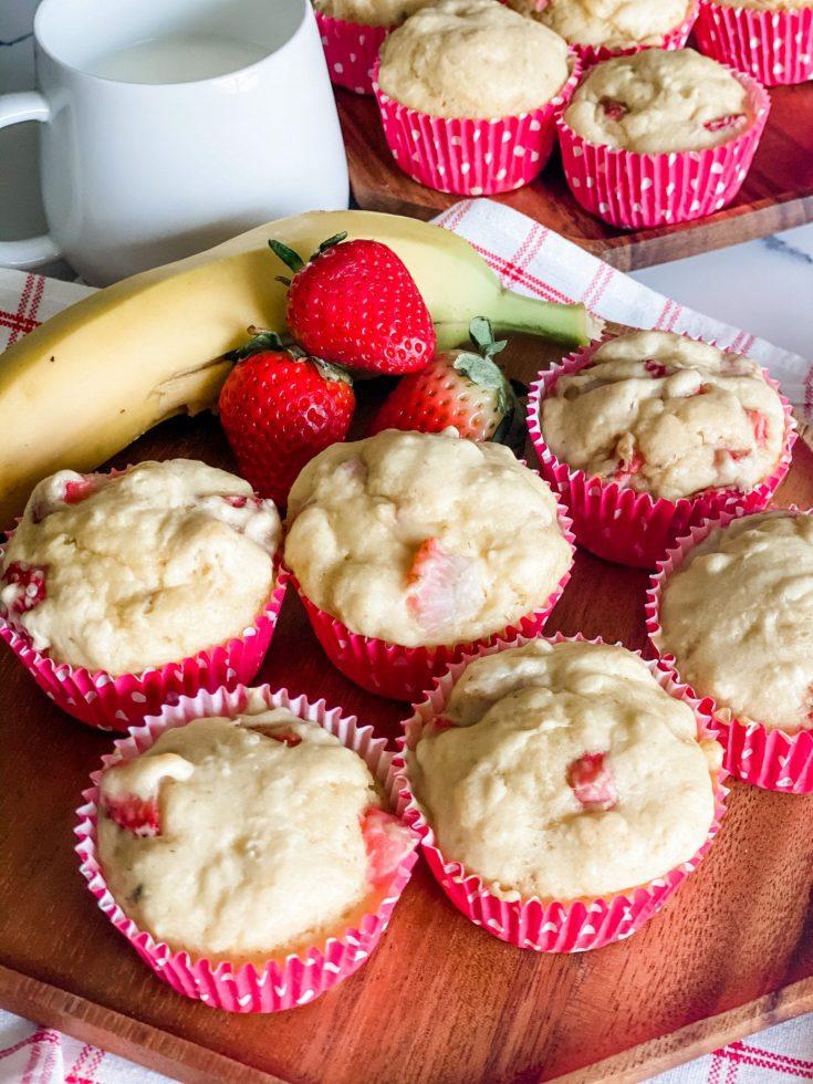 Weight Watchers Strawberry Banana Muffins