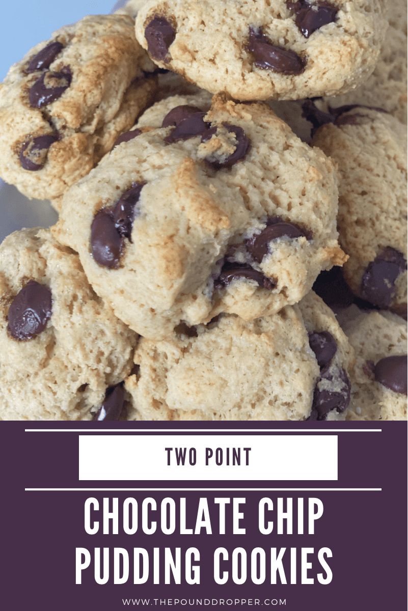 These Two Point Chocolate Chip Pudding Cookiesare insanely thick, soft, and chewy, and make for the BEST low point cookie-I guarantee EVERYcookie lover will LOVE these!! via @pounddropper