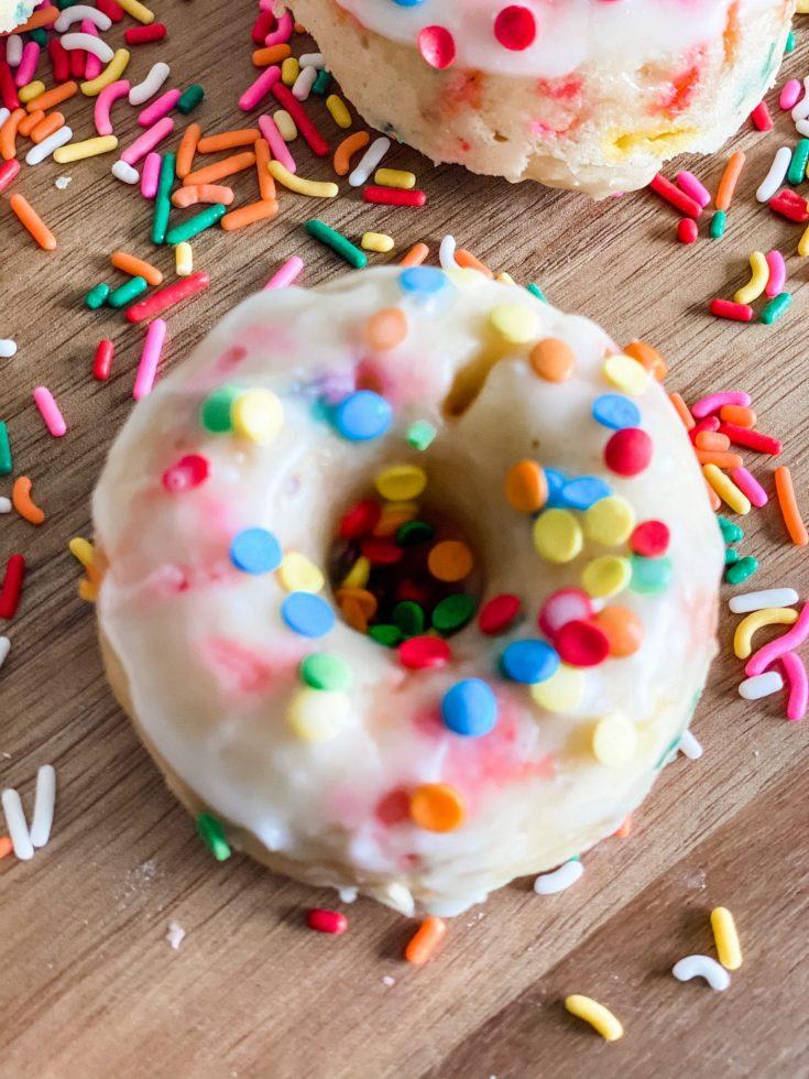 Easy Baked Funfetti Donuts