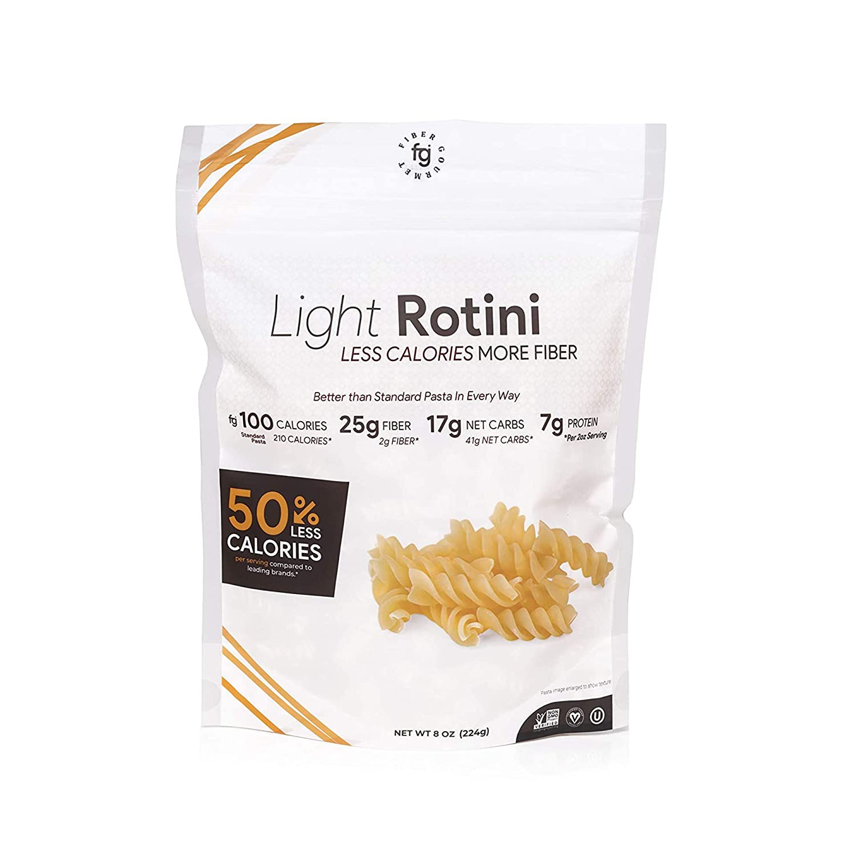 Fiber Gourmet Pasta – Light Rotini Pasta – Fiber-Rich, Low Calorie, Healthy Pasta