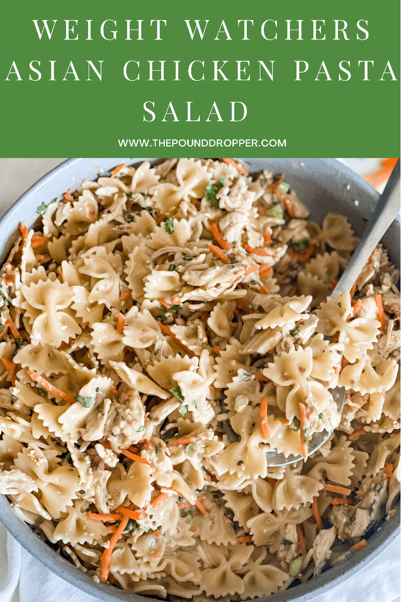 ThisAsian Chicken Pasta Saladis the perfect salad to serve at your next family gathering,summer cookout, or picnic. I'm telling you this salad tastes even better the longer it chills in the fridge! via @pounddropper