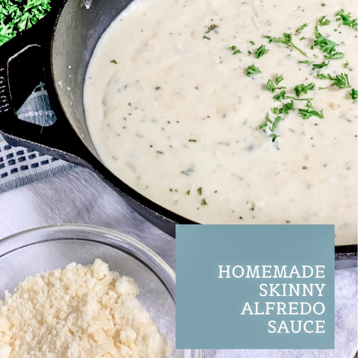 Homemade Skinny Alfredo Sauce