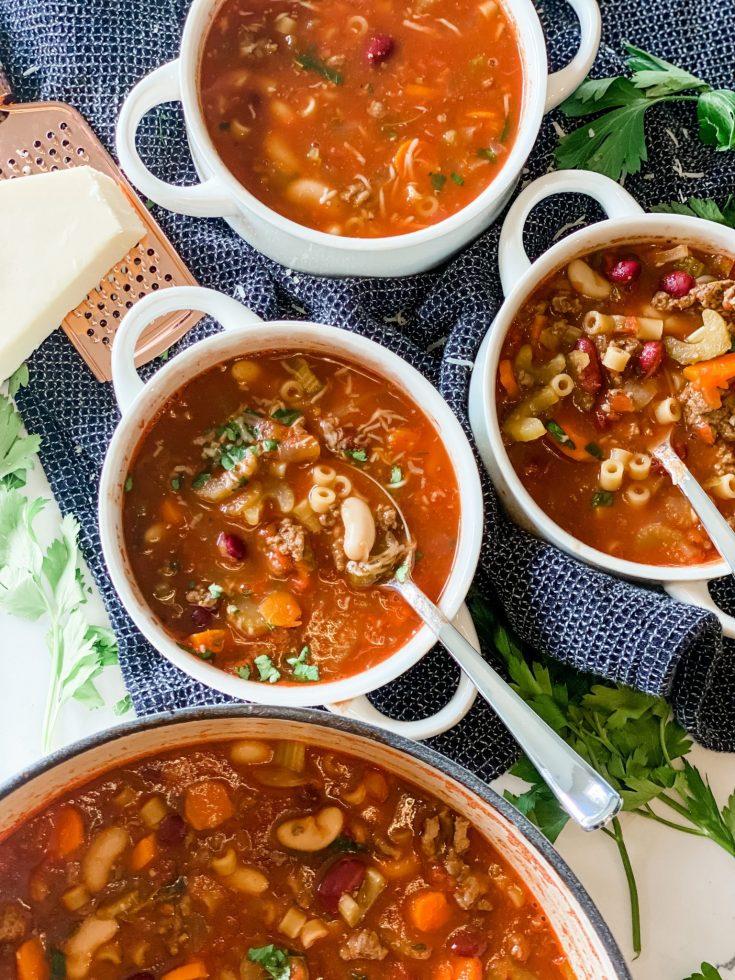 Olive Garden Copycat Pasta e Fagioli Soup