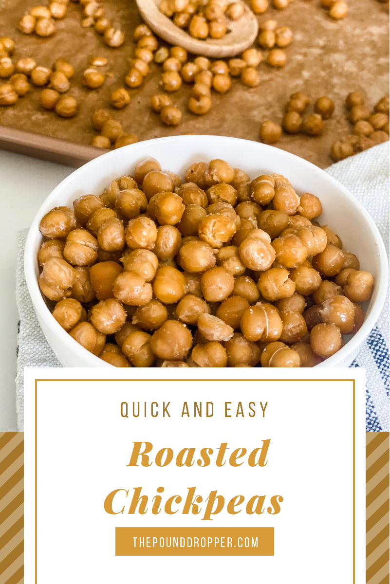 These RoastedChickpeas make for a savory, salty, nutty salad topping, soup topping, or for an addicting but healthy snack! via @pounddropper