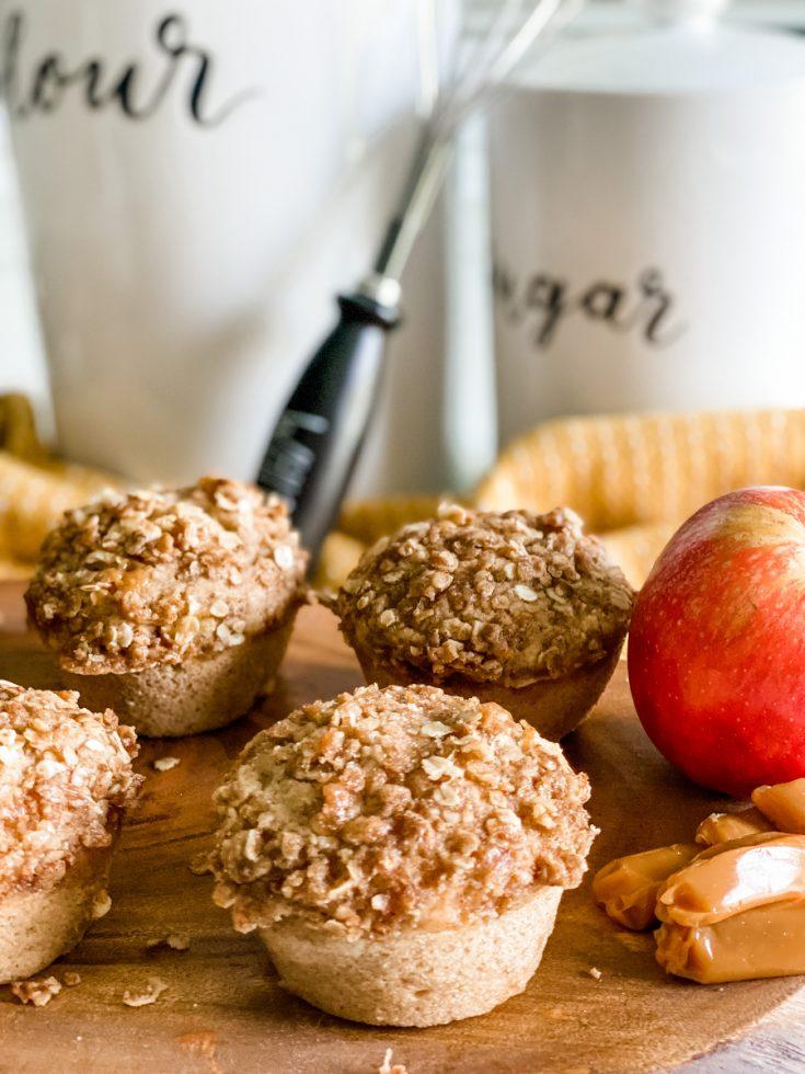 Lightened Up Caramel Apple Muffins