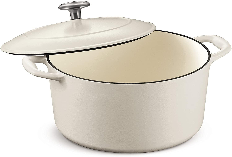 Dutch Oven, Cast Iron 5.5-Quart Matte White